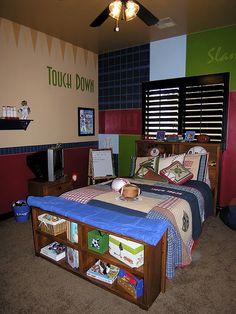 Boys sports bedroom