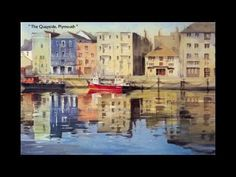 This guy's work is just amazing...Coastal Watercolours by Trevor Waugh - YouTube