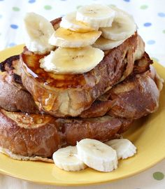 Peanut Butter- Banana French Toast with Honey Drizzle