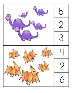 Dinosaur Theme Preschool, Dinosaur Activities, Numbers Preschool, Dinosaur Crafts, Preschool Learning Activities, Preschool Worksheets, Preschool Activities, Spanish Activities, Vocabulary Activities