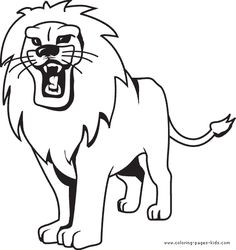 Growling Lion Color Page Animal Coloring Pages For Kids Thousands Of Free Printable