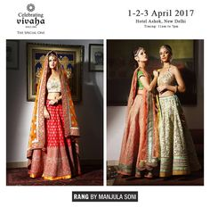 """@vivaha_exhibits """"Explore the #latest collection of RANG by Manjula Soni exclusively at Hotel The Ashok on 1st, 2nd & 3rd April 2017."""" via @sunjayjk"""