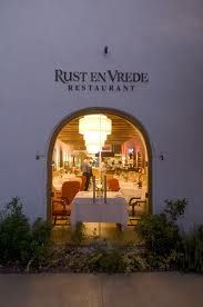 One of the top ten restaurants in the winelands: Rust en Vrede, Stellenbosch.