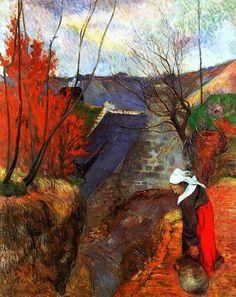 Paul Gauguin - Bretonne avec une jarr