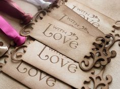 Favor tags - gorgeous!
