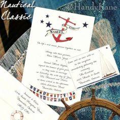 Invitations Single Page Nautical Wedding & Reception Card