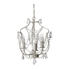 $39.99 IKEA: KRISTALLER Chandelier, 3-armed, silver color, glass silver color/glass ,great looking,glass not plastic, hang over bed or vanity area