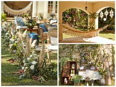 Em uma atmosfera bucólica, este casamento boho, decorado pela noiva Renata Paraíso, impressionou os convidados com criatividade e descontração