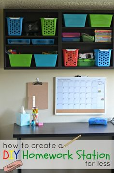 How to Create a DIY Homework Station for Less #BacktoSchool #client