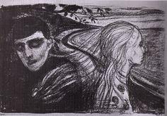 Edvard Munch >> Separación (2) (1896)