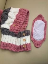 Women Winter Windproof Warm Plus Velvet Knit Hat Scarf Set - Banggood Mobile -. - Women Winter Windproof Warm Plus Velvet Knit Hat Scarf Set – Banggood Mobile – Hats – - Knitting Blogs, Sweater Knitting Patterns, Loom Knitting, Knitting Projects, Crochet Patterns, Bonnet Crochet, Crochet Mask, Crochet Faces, Knit Crochet