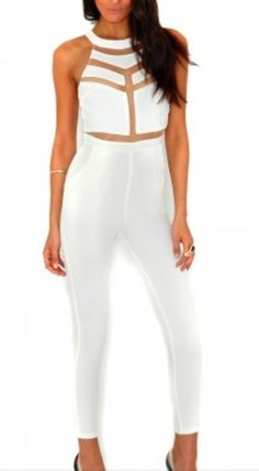 Make a statement in this risqué, cut out jumpsuit with mesh panels, the perfect style solution for those looking for an alternative to dresses. Super slick and chic. 94% polyester 6%spandex. This jumper has great stretch. Please allow 4-7 working days to receive your order.