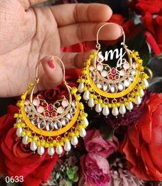 Gold Earrings Designs, Gold Hoop Earrings, Etsy Earrings, Designer Earrings, Piercings, Jewelery, Crochet Earrings, Girly, Indian