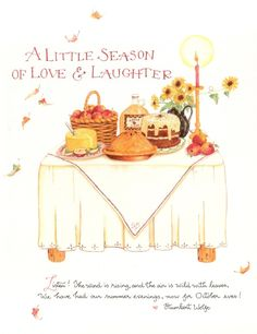 season of love Pin by Debbie Orcutt on ⛅ Autumn Affection ⛅ Susan Branch Blog, Decoupage, Branch Art, Mary Engelbreit, Food Illustrations, Fall Halloween, Autumn Leaves, Autumn Harvest, Fall Decor