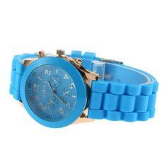 YKS Unisex Geneva Silicone Jelly Gel Quartz Analog Sports Wrist Watch watches gift for women men lady ladies girl