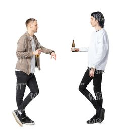 two cut out young men standig at a bar and drinking beer Cut Out People, Young Men, Drawing Tutorials, Drinking, Beer, Root Beer, Beverage, Ale, Drink