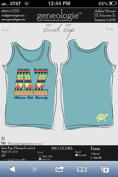 Delta Zeta teal tribal tanks... if i could figure out how to buy this right now i would