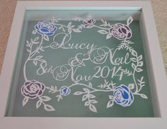 Wedding gift papercut