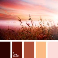 beige, colores de la puesta del sol, colores pastel, elección del color, marrón anaranjado, marrón claro, marrón oscuro, marrón rosáceo, paleta de colores monocromática, paleta del color marrón monocromática, tonos marrones, tonos marrones y beiges.