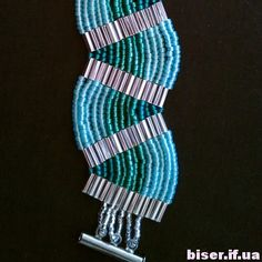 how to weave beaded bracelet,(Russian)