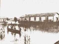 A enchente de 1929 no ponto de junção das estradas de Osasco e Butantã , em São Paulo/SP (atuais avenidas Corifeu de Azevedo Marques com Autonomistas).