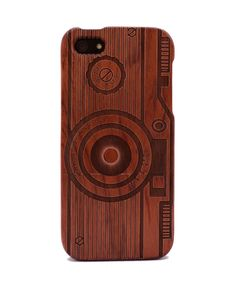 Camera Engraved Rosewood iPhone5/5s Wood Case