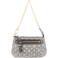 Pre-owned Louis Vuitton Idylle Mini Pochette Accessories ($245) ❤ liked on Polyvore featuring bags, handbags, shoulder bags, blue, mini purse, shoulder handbags, handbags shoulder bags, monogrammed purses and white handbags