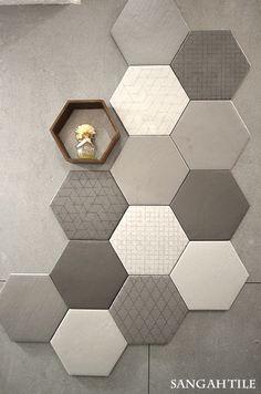 Tile-Sangah's - LE TERRE collection #tile #sangahtile #interior #modern #unique #simple #pattern #space #design #artwall #상아타일 #육각형타일 #포인트타일 #타일 #패턴 #모던 #유니크 #인테리어 #디자인 #공간 #홈 #스타일 #아트월
