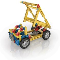 At last, award-winning Engino construction kits are available in the USA. The Engino Engineering kits are among the most advanced and multifaceted three-dimensional construction toys in the world today. Types Of Machines, Simple Machines, Engineering Kits, Stem Skills, Best Educational Toys, Steel Bar, Pulley, Inventions, Kids Toys
