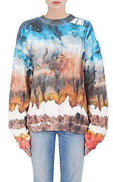 Tie-Dyed Cotton Fleece Sweatshirt