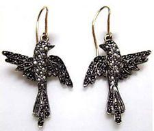 Victorian 2.22ct Rose Cut Diamond Designer Pigeon Wedding Nice Earrings B0064