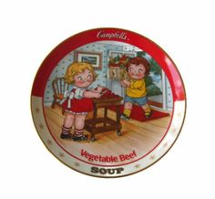 The Campbell Kids VEGETABLE BEEF SOUP Danbury Mint Collectible Plate  http://stores.ebay.com/The-Rolling-Wave?_trksid=p2047675.l2563