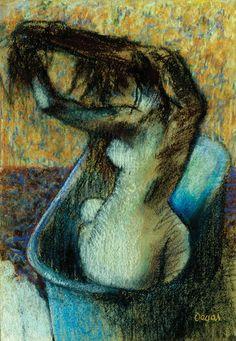 Edgar Degas, Woman Bathing, 1894.