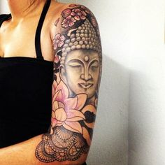 Buddha among flowers