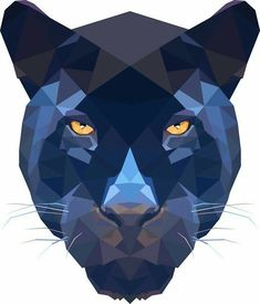 Tattoo geometric animal panther 52 Ideas for 2019 Geometric Drawing, Geometric Art, Geometric Animal, Triangle Art, Polygon Art, Illustrations, Animal Design, Pop Art, Art Drawings