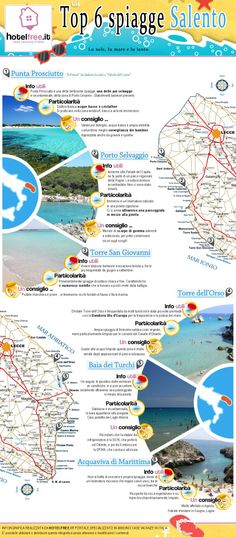 Spiagge nel Salento | Infographic Love