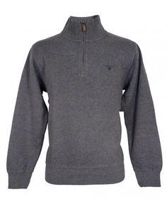 Buy Grey 226328 Sacker Rib Half Zip Sweatshirt by Gant from our Knitwear range - Grey, Autumn Winter 2015 - @ Jonathan Trumbull Knitwear, Athletic, Zip, Knitting, Sweatshirts, Jackets, Stuff To Buy, Fashion, Glove