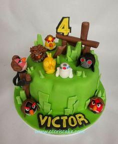 Torturi artistice: Angry birds Star wars cake