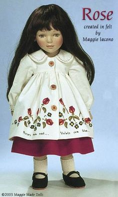 Rose 16.5 Inch Tall Felt Doll Edition Size: 70 Created in 1998