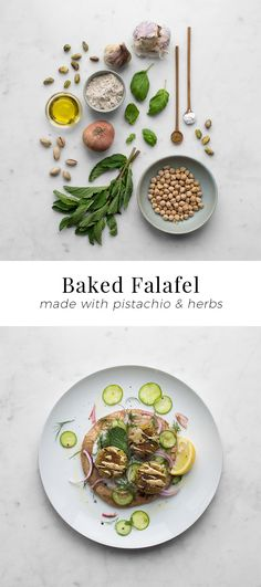 Baked Pistachio and Herb Falafel