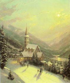 Moonlit Village
