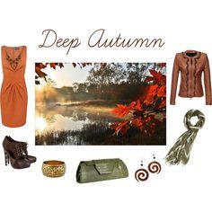 Deep Autumn by sabira-amira on Polyvore featuring Alexon, Benedetta Novi, Georgina Goodman, Big Buddha and Forever 21