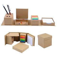 55 Ideas small desk organization drawers for 2019 Desk Organization Diy, Diy Storage, Bedroom Storage, Cardboard Furniture, Cardboard Crafts, Diy Gift Box, Diy Gifts, Diy Karton, Paper Crafts Origami