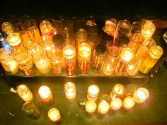 Candles at Our Lady of Guadalupe Church -Mission, Texas.