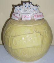 $89.00 Charming vintage McCoy Three Little Kittens cookie jar www.jazzejunque.com