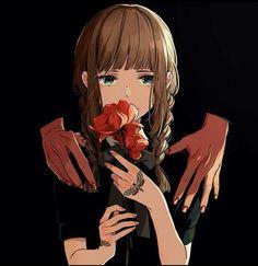 #black ##anime #japan #kawaii #doy #manga #girl #brow #Flowers .