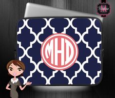 MacBook Air/Pro Sleeve, Laptop Computer Sleeve, Ipad Sleeve, E-Reader case, Personalized & Monogrammed on Etsy, $24.00