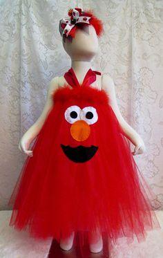 Fits Sz 2T-4T Elmo Tutu Dress Toddler Girls by cd1ofakind on Etsy
