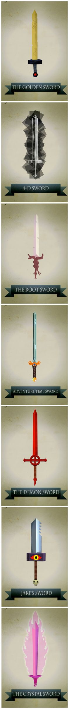 Swords of Adventure Time | by Harshness; Posters available at his Etsy