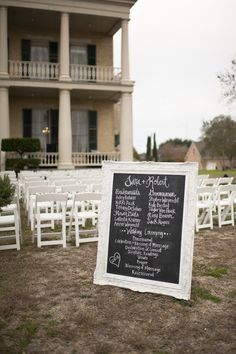 Looking to save money on your special day? Use chalkboards and vintage frames for the programs instead of printed ones!
